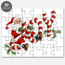 Vintage Joy and Santa Puzzle