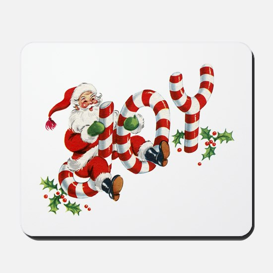 Vintage Joy and Santa Mousepad