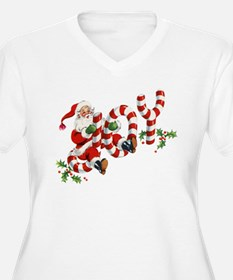 Vintage Joy and Santa Plus Size T-Shirt