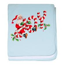 Vintage Joy and Santa baby blanket