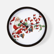 Vintage Joy and Santa Wall Clock