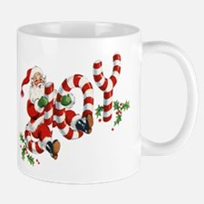 Vintage Joy and Santa Mugs