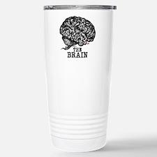 Glaze Brain Stainless Steel Travel Mug