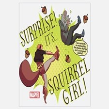 Squirrel Girl Fighting Crime Wall Art