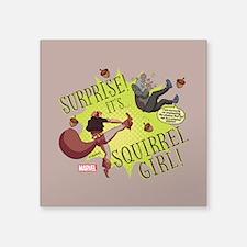 "Squirrel Girl Fighting Crim Square Sticker 3"" x 3"""