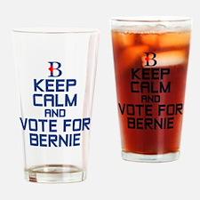 Keep Calm Bernie Drinking Glass