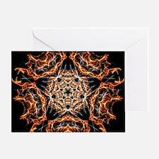 Pentagram Fire Greeting Cards