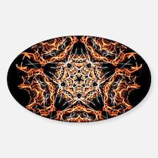 Pentagram Fire Decal
