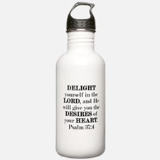 Psalm 37:4 Sports Water Bottle