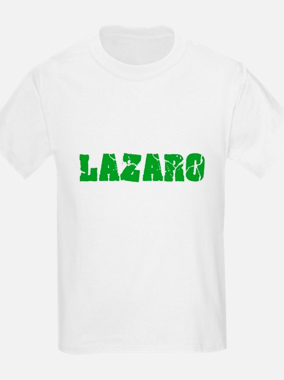 Lazaro Name Weathered Green Design T-Shirt
