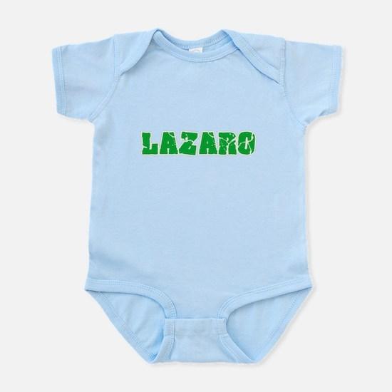 Lazaro Name Weathered Green Design Body Suit