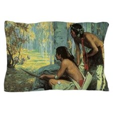 Taos Turkey Hunters by Couse Pillow Case