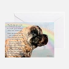 Rainbow Bridge w/ poem Greeting Card