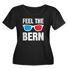 Feel the Bern [glasses] Plus Size T-Shirt