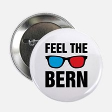 "Feel the Bern [glasses] 2.25"" Button"