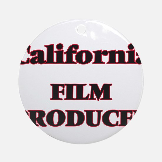 California Film Producer Round Ornament