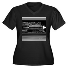 Runaway Night Train Women's Plus Size V-Neck Dark