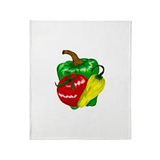 Veggie Trio Throw Blanket