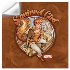 Squirrel Girl Rooftop Wall Art Wall Decal