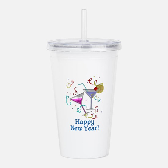 Happy New Year Acrylic Double-wall Tumbler