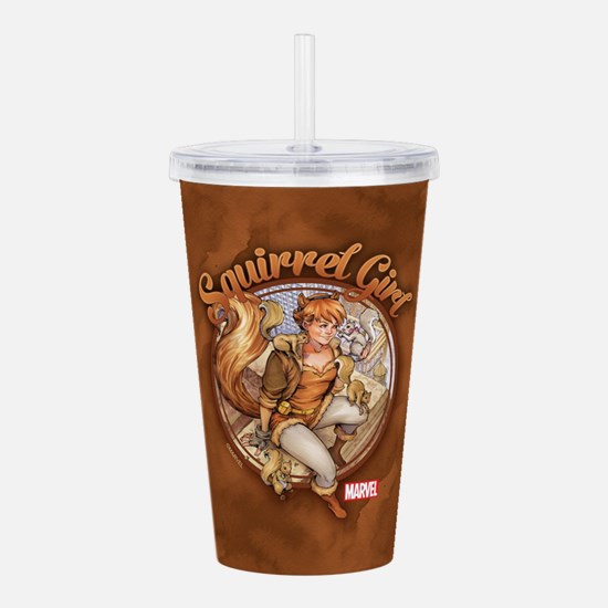 Squirrel Girl Rooftop Acrylic Double-wall Tumbler