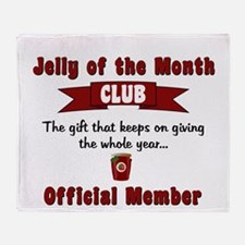 Jelly of the Month Club Throw Blanket