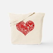 Gamer heart Tote Bag