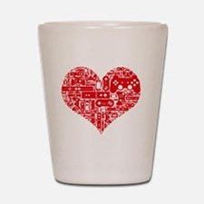 Gamer heart Shot Glass