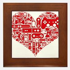 Gamer heart Framed Tile