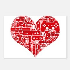 Gamer heart Postcards (Package of 8)