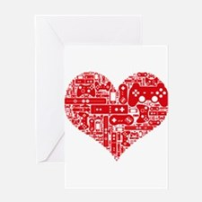 Gamer heart Greeting Cards