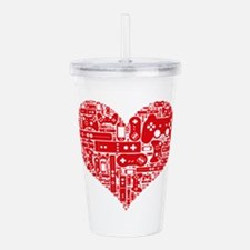 Gamer heart Acrylic Double-wall Tumbler