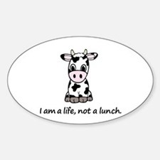Live, not lunch cartoon cow Decal