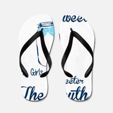 Cool Southern girl Flip Flops