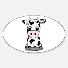 Cute Cartoon Cow Decal