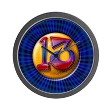 Lucky Number 13 Wall Clock