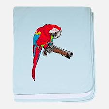 Parrot Pistol baby blanket