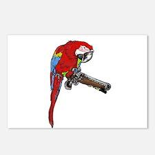 Parrot Pistol Postcards (Package of 8)