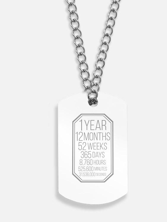 1 Year (Gray Chevron) Dog Tags