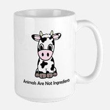 Animals Are Not Ingredients (Cow) Large Mug