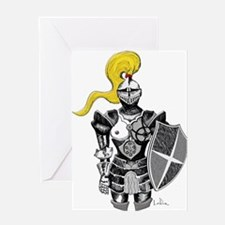 The Blonde Knight Greeting Card
