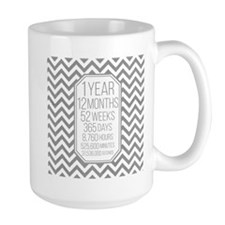 1 Year (Gray Chevron) Mug