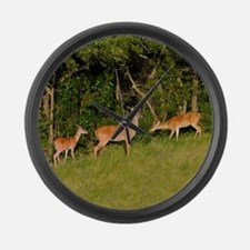 Deer Tryst Large Wall Clock