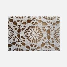 Vintage Lace Wallpaper Rectangle Magnet