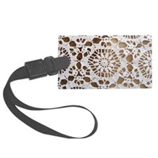 Vintage Lace Wallpaper Luggage Tag