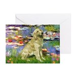 Lilies & Golden Greeting Cards (Pk of 20)