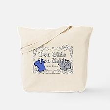 Portlandia Two Girls Two Shirts Tote Bag