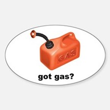 Got Gas? Oval Decal