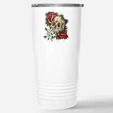 sugar skull roses Travel Mug