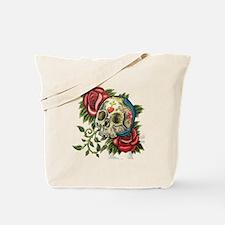 sugar skull roses Tote Bag